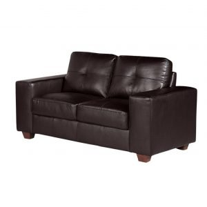 Aster 2 seater sofa - brown leather | Manor Interiors