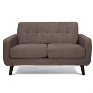 Balbo 2 seater sofa - Brown fabric | Manor Interiors
