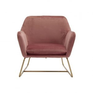 Charlotte chair - pink velvet | Manor Interiors