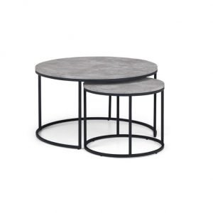 Collete Nest table - grey and black | Manor Interiors
