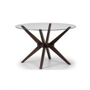 Glass walnut dining table | Manor Interiors