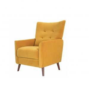 Hetty occasional chair - mustard velvet | Manor Interiors