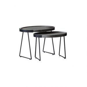 Las nest table - black and grey | Manor Interiors