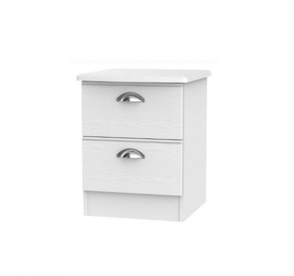 Louvre bedside - white | Manor Interiors