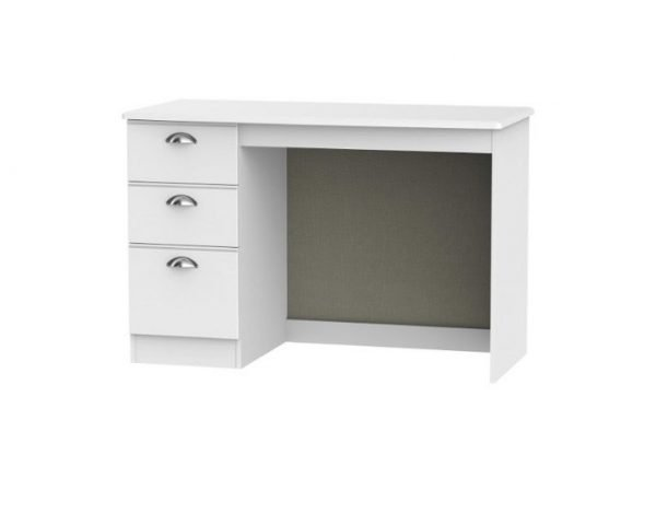 Louvre dressing table - white with left drawers | Manor Interiors