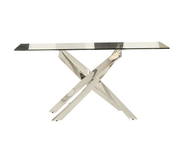Mal rectangle glass table   Manor Interiors