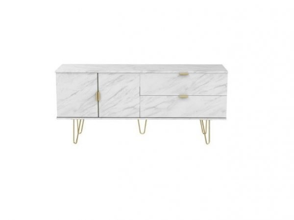 Marble gold TV unit – Xandu range | Manor Interiors