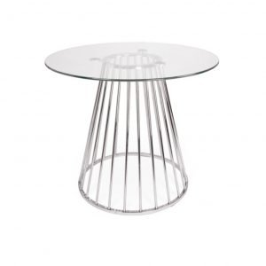 Plymouth dining table - glass top, silver legs | Manor Interiors