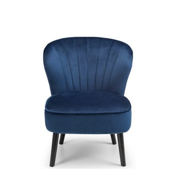Rochelle accent chair - blue velvet | Manor Interiors