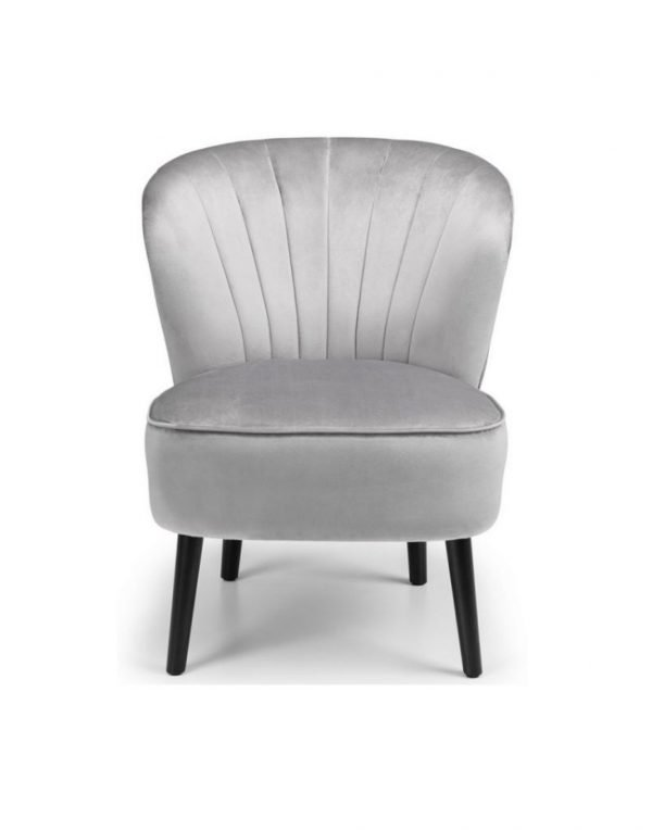 Rochelle accent chair - grey velvet | Manor Interiors
