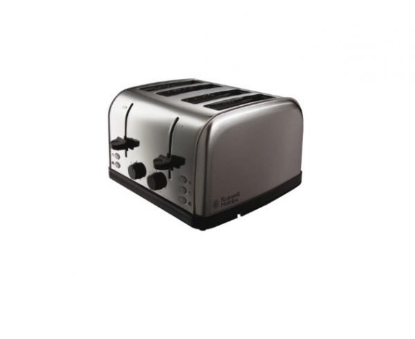 Russell Hobbs 4 slice toaster - Silver | Manor Interiors