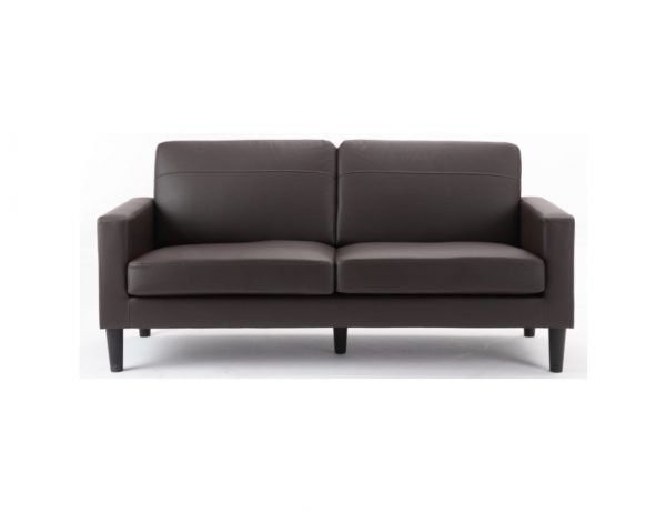 SiERRA 3 seater sofa - brown leather | Manor Interiors