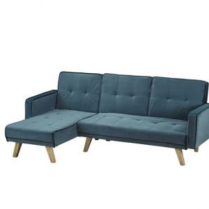 Tyson Sofa bed - teal velvet | Manor Interiors