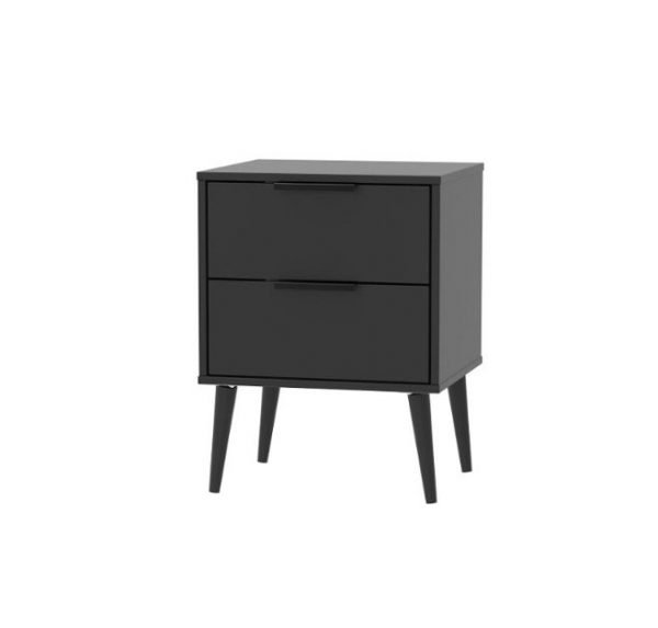 Xandu bedside - black | Manor Interiors