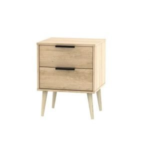 Xandu bedside - oak | Manor Interiors