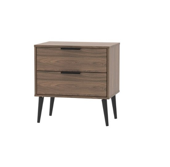 Xandu bedside - walnut | Manor Interiors