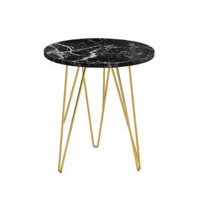 Zion lamp table - black marble | Manor Interiors