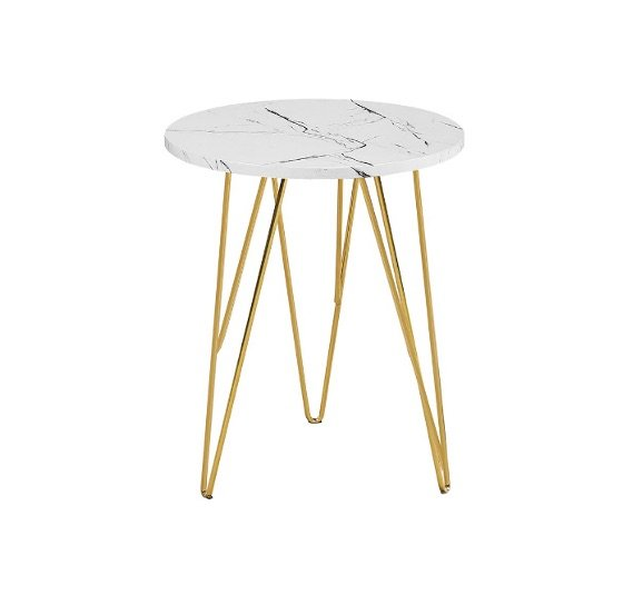 Zion lamp table - white marble | Manor Interiors