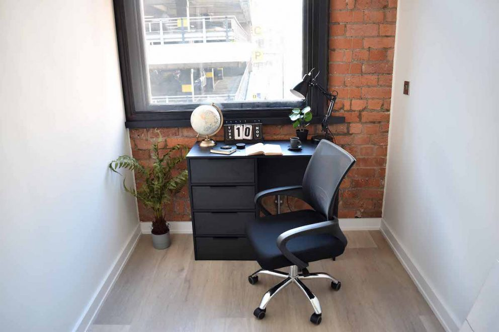 Desk and chair for student accommodation | Manor Interiors