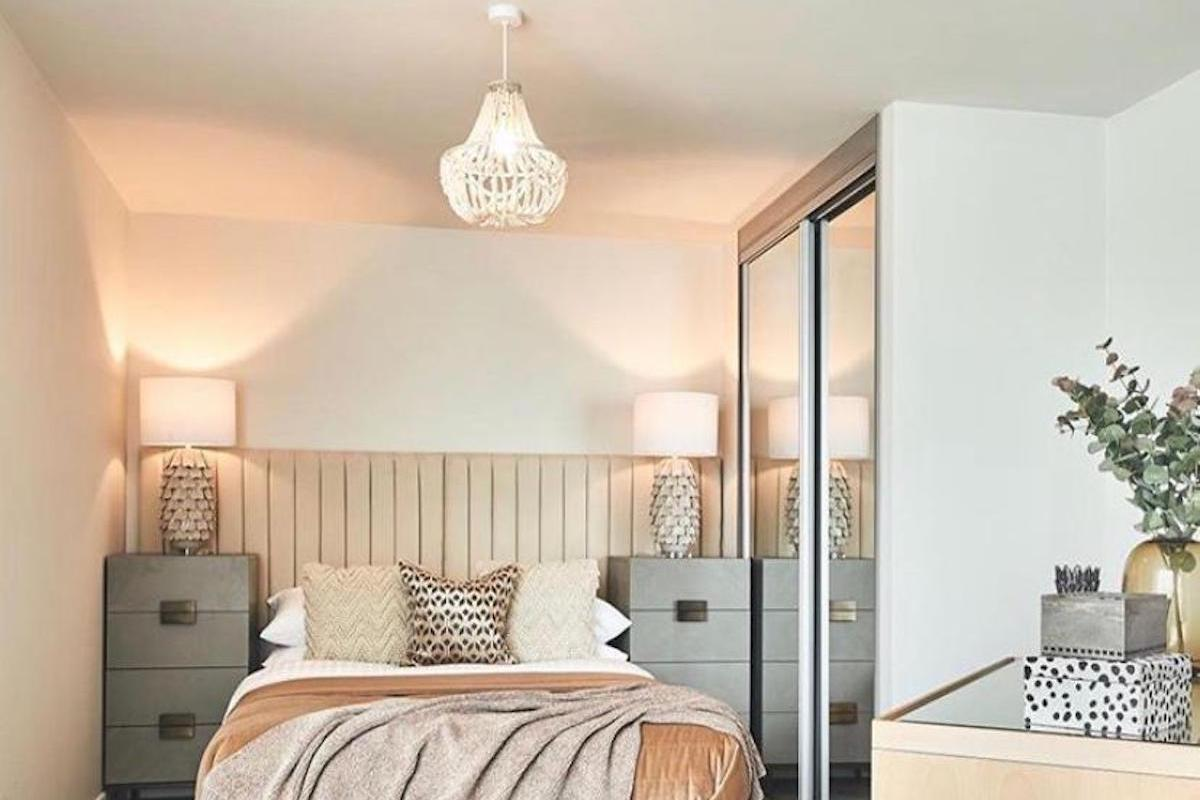 Lighting techniques used in a bedroom | Manor Interiors